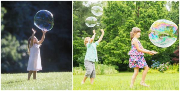мыльные пузыри для детей фото