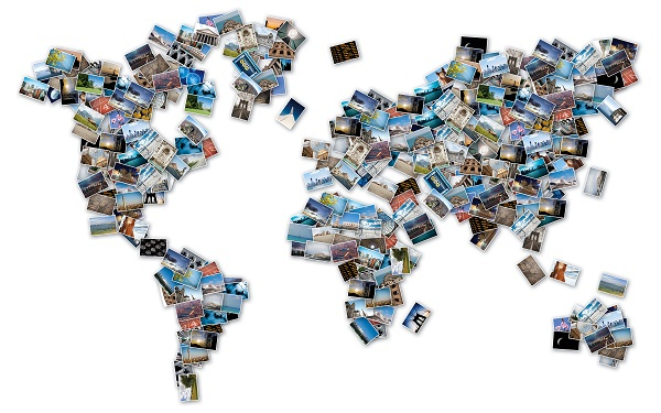 Карта мира в фотографиях