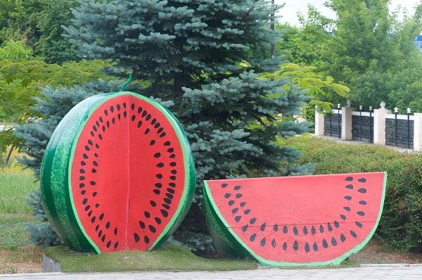 Памятник арбузу фото