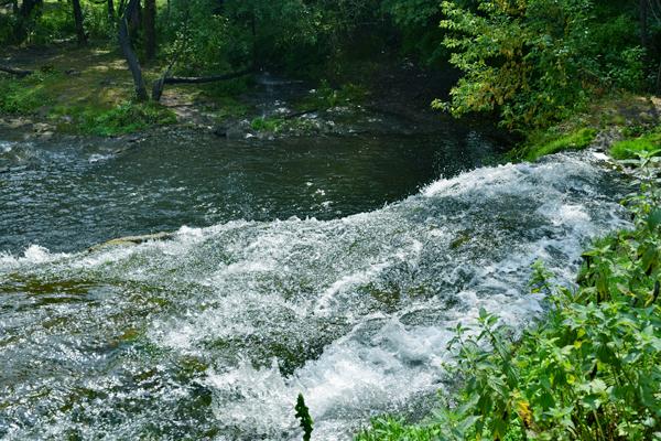 Равниннный водопад на Тернопольщине
