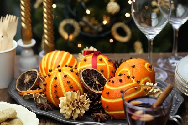 Новогодний декор из апельсинов — 12 идей с фото