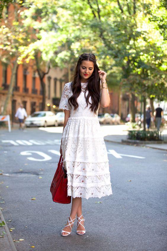 afb63d4f040 С чем носить белое платье этим летом  топ-7 образов на каждый день