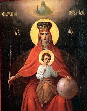 Державная икона Божией Матери фото