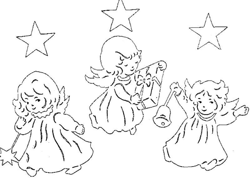 трафареты на рождество
