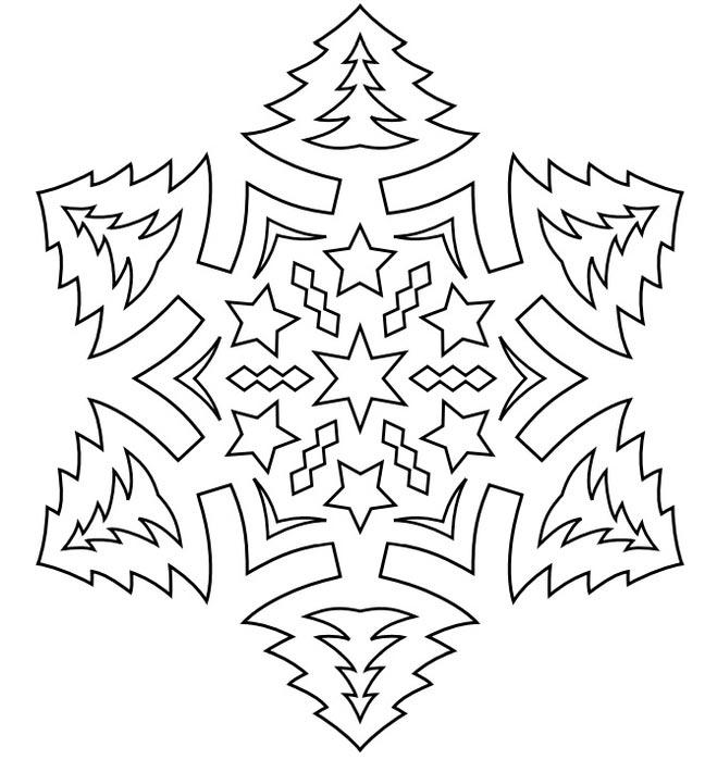 трафареты снежинок
