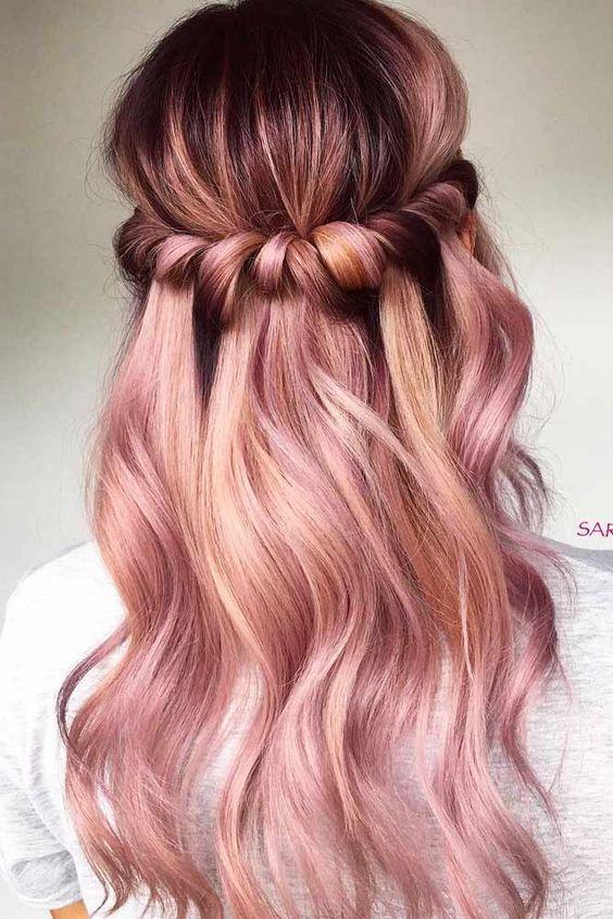 Балаяж с пудровым розовым
