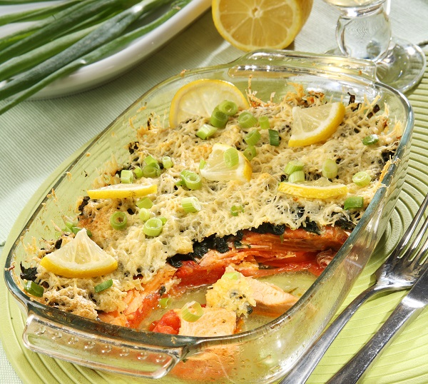 Рыбная запеканка с помидорами, фото